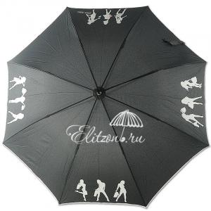 Зонт-трость 7367 Shopping long Nero фото-1