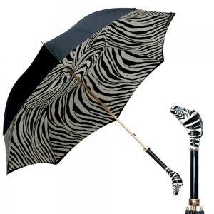 Зонт-трость Pasotti Nero Zebra Lux фото-1