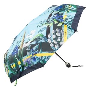 Зонт складной Ferre 6002-OC Flowers Blu фото-2