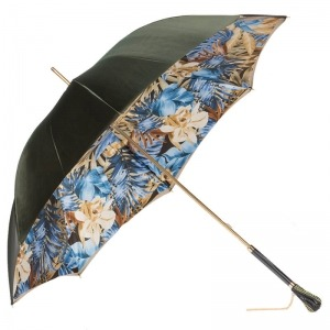 Зонт-трость Pasotti Oliva Blue Belezza Swarovski фото-5