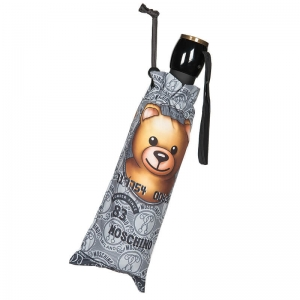Зонт складной Moschino 8330-OCH Credit Card Bear Silver  фото-4