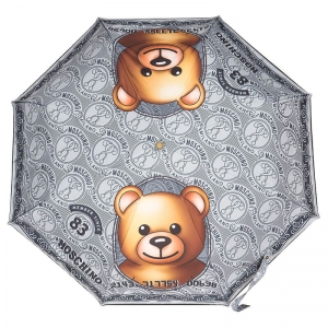 Зонт складной Moschino 8330-OCH Credit Card Bear Silver  фото-2