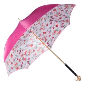 Зонт-трость Pasotti Fuxia Dots Flowers Globe фото-3
