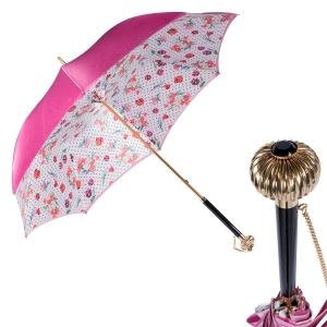 Зонт-трость Pasotti Fuxia Dots Flowers Globe фото-1
