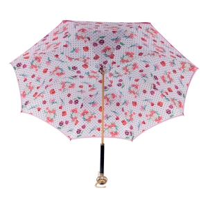 Зонт-трость Pasotti Fuxia Dots Flowers Globe фото-4