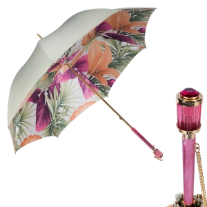 Зонт-трость Pasotti Oliva Felce Vetro Fuxia фото-1