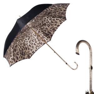 Зонт-трость Pasotti Nero Bars Oro фото-1