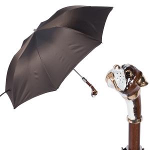 Зонт складной Pasotti Auto Boxer Oxford Marrone Lux фото-1