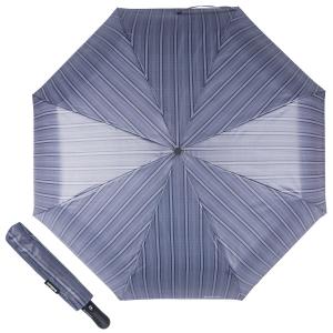 Зонт складной Baldinini 39-OC Double Stripes Grey фото-1