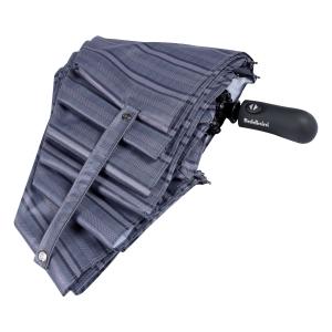 Зонт складной Baldinini 39-OC Double Stripes Grey фото-4