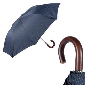 Зонт складной Pasotti Auto Legno Punto Blu фото-1