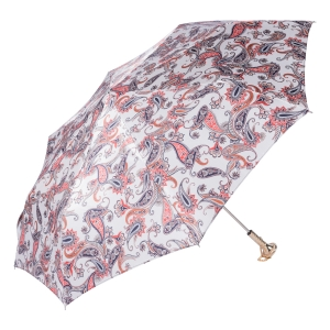 Зонт складной Pasotti Manual Paisley Bianco Lux фото-2