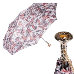 Зонт складной Pasotti Manual Paisley Bianco Lux фото-1