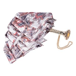 Зонт складной Pasotti Manual Paisley Bianco Lux фото-4