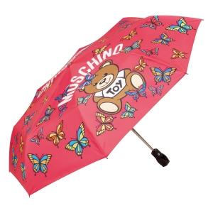 Зонт складной Moschino 8129-OCJ Butterfly Bear Fuxia фото-2