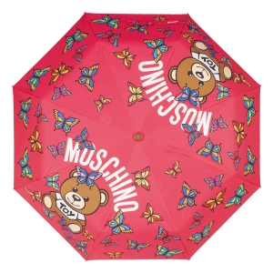 Зонт складной Moschino 8129-OCJ Butterfly Bear Fuxia фото-3