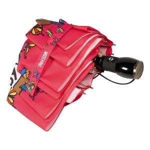 Зонт складной Moschino 8129-OCJ Butterfly Bear Fuxia фото-4