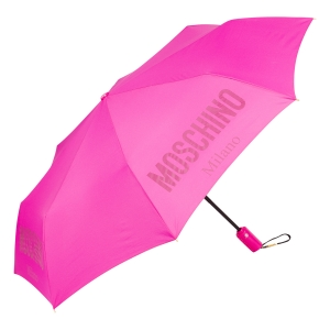 Зонт складной Moschino 8021-OCJ New Metal Logo Fuxia фото-2