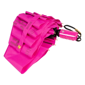 Зонт складной Moschino 8021-OCJ New Metal Logo Fuxia фото-4