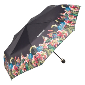 Зонт складной Baldinini 50-OC Giglio Black фото-2