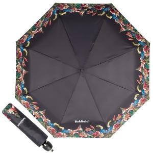 Зонт складной Baldinini 50-OC Giglio Black фото-1