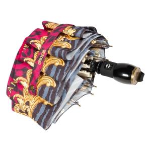 Зонт складной Moschino 8009-OCJ Logo animalier Fuxia фото-4