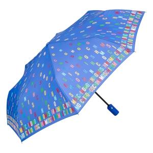 Зонт складной Moschino 8017-OCP Letters Lightblue фото-2
