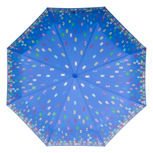 Зонт складной Moschino 8017-OCP Letters Lightblue фото-3