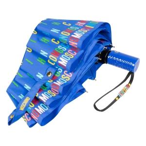 Зонт складной Moschino 8017-OCP Letters Lightblue фото-4