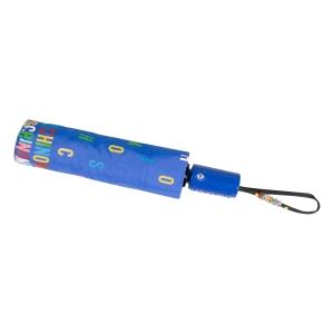 Зонт складной Moschino 8017-OCP Letters Lightblue фото-5