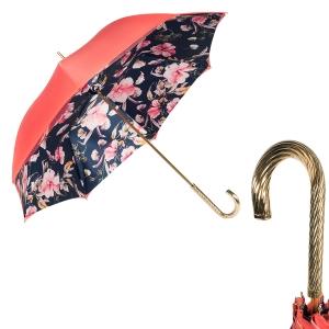 Зонт-трость Pasotti Coral Magnolia Spring фото-1