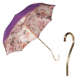 Зонт-трость Pasotti Giante Flora Oro фото-1