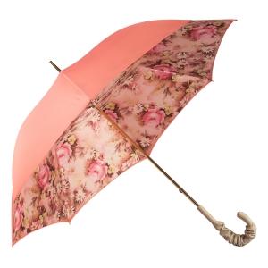 Зонт-трость Pasotti Magenta Daizy Pelle Ivory фото-3