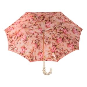 Зонт-трость Pasotti Magenta Daizy Pelle Ivory фото-4