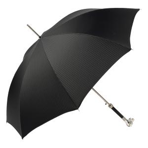 Зонт-трость Pasotti Labradore Silver Codino Black фото-4