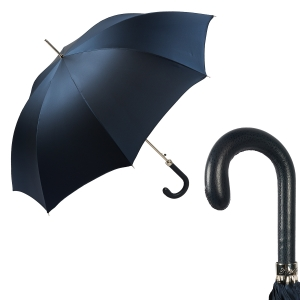 Зонт-трость Pasotti Classic Pelle Oxford Blu фото-1