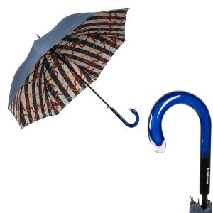 Зонт-трость Baldinini 49-LA  Сatena Stripes Blu фото-1