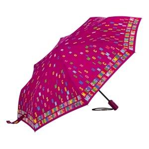 Зонт складной Moschino 8017-OCX Letters Bordeaux фото-2