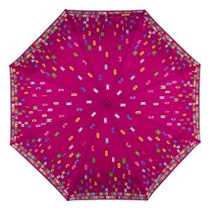 Зонт складной Moschino 8017-OCX Letters Bordeaux фото-3