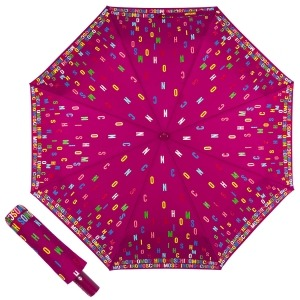 Зонт складной Moschino 8017-OCX Letters Bordeaux фото-1