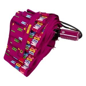 Зонт складной Moschino 8017-OCX Letters Bordeaux фото-4