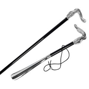 Комплект Pasotti Serpente Silver Трость и Ложка на подставке  фото-1