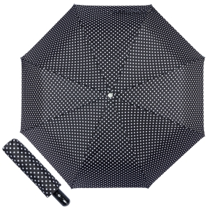 Зонт складной Ferre 371-OC Pois Black фото-1
