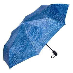 Зонт складной Ferre 371-OC Crocodile Blu фото-2