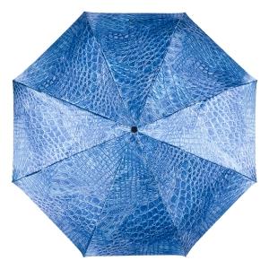 Зонт складной Ferre 371-OC Crocodile Blu фото-3