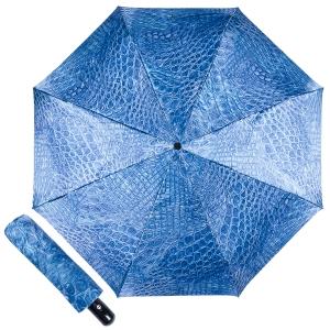 Зонт складной Ferre 371-OC Crocodile Blu фото-1
