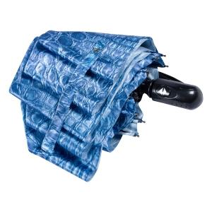 Зонт складной Ferre 371-OC Crocodile Blu фото-4