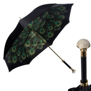 Зонт-трость Pasotti Nero Hawai Swarovski Palla фото-1