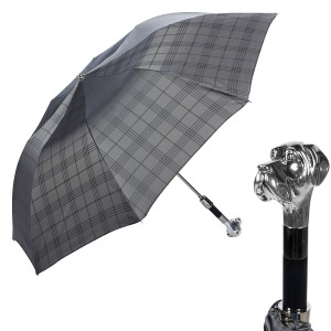 Зонт складной Pasotti Auto Labradore Silver Cletic Grey фото-1