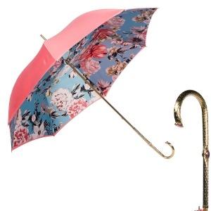 Зонт-трость Pasotti Magenta Bouquet Oro фото-1